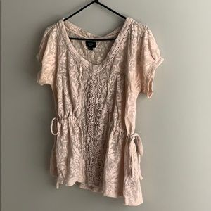 XS Anthropologie top. Mixed fabric (see pic).